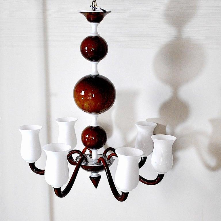 Italian Venini Suspension Lamp a Variant of Model N. 99.41 For Sale