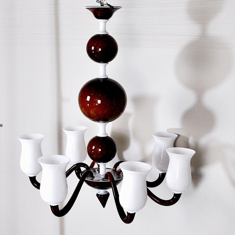 Venini Suspension Lamp a Variant of Model N. 99.41 In Good Condition For Sale In bari, IT