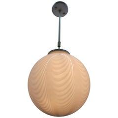 Venini ´Swirl´ Sphere Chandelier or Lantern in Murano Glass, circa 1970s