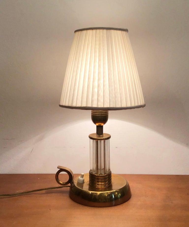 Venini table lamp Murano glass brass, 1940, Italy.