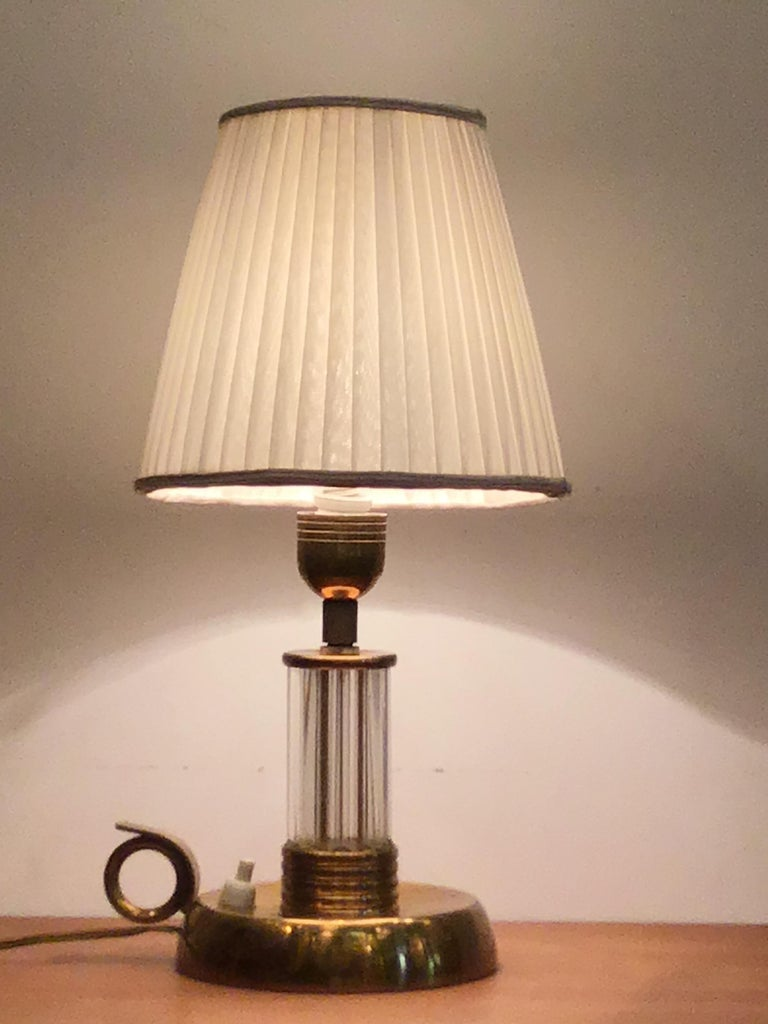 Other Venini Table Lamp Murano Glass Brass, 1940, Italy For Sale