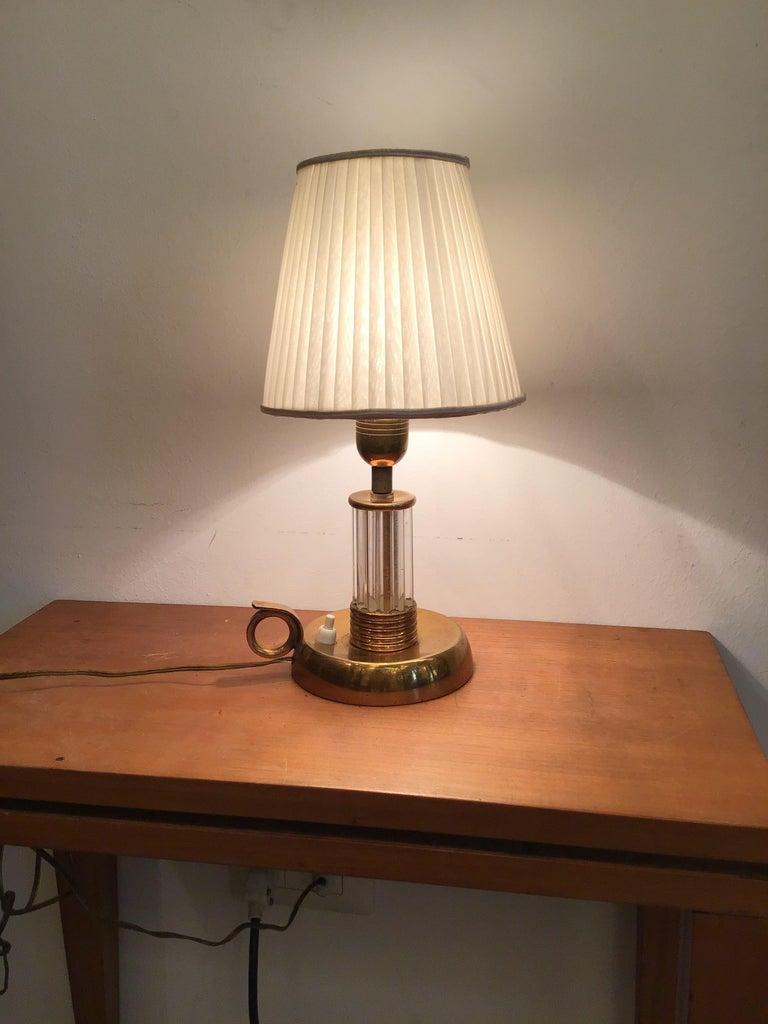 Venini Table Lamp Murano Glass Brass, 1940, Italy For Sale 1