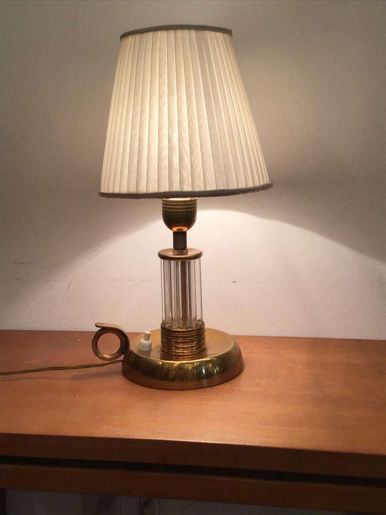 Venini Table Lamp Murano Glass Brass, 1940, Italy For Sale 2