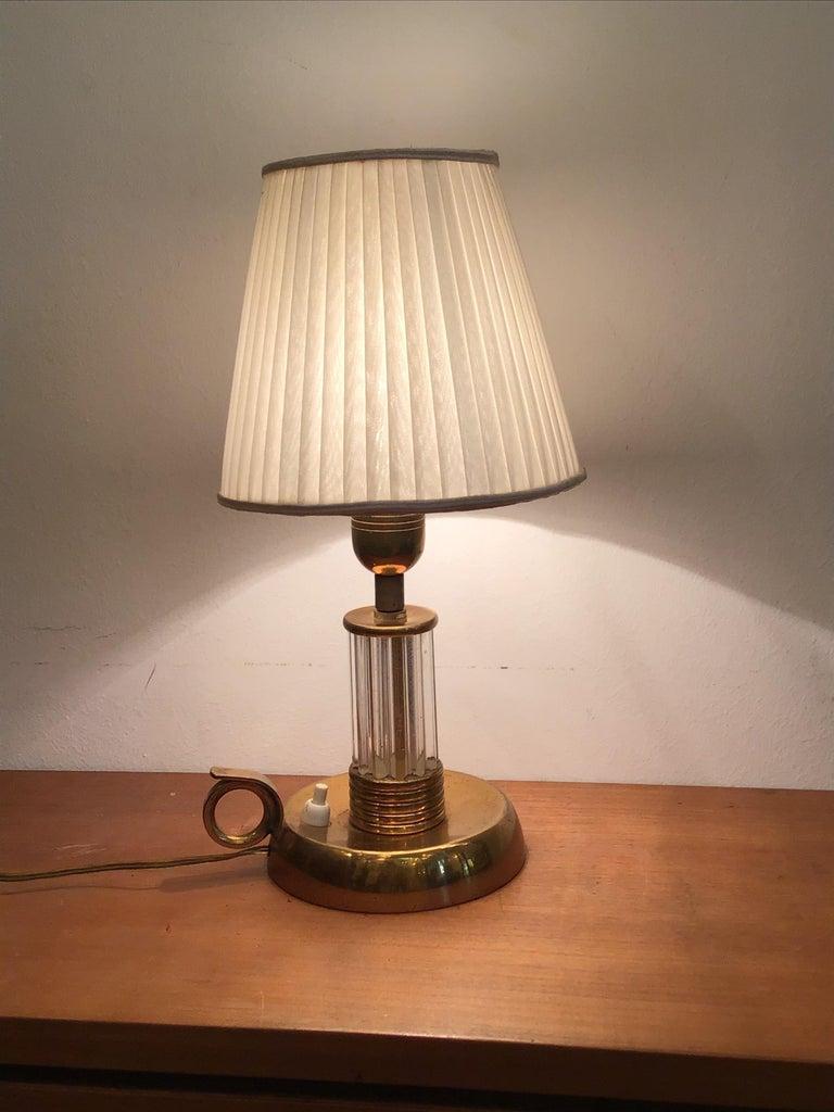 Venini Table Lamp Murano Glass Brass, 1940, Italy For Sale 3