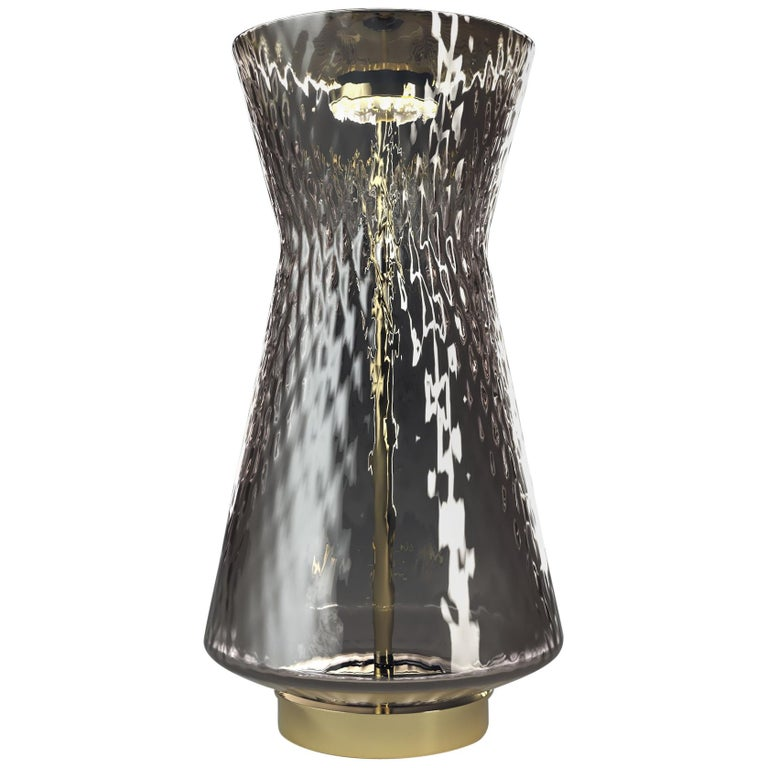 Venini Tiaraluce Small Table Light in Grey by Francesco Lucchese For Sale