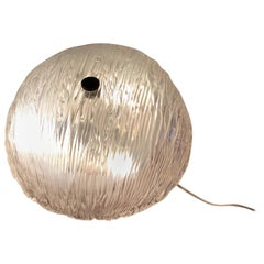 Venini Toni Zuccheri Ceiling Light/Sconce Murano Glass Brass, 1950, Italy