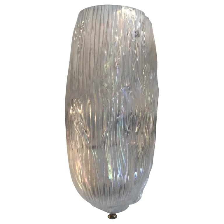 Venini Toni Zuccheri Sconces Murano Glass Brass, 1950, Italy For Sale