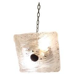 "Venini ""Toni Zuccheri ""Sconces Murano Glass Brass, 1950, Italy"