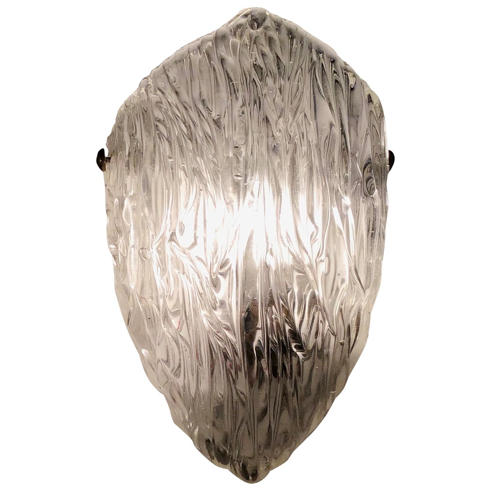 "Venini ""Toni Zuccheri"" Sconces Murano Glass Brass, 1952, Italy"