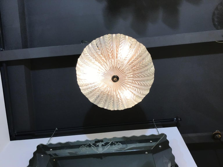 Venini Tree of Chandeliers Murano Glass Brass, 1940 For Sale 5