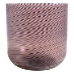 Venini Vase Tapio Wirkkala Filigrana Signed Italian Art Glass, 1980s