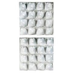 """Venini Veliero Formella """"A"""" Wall Light in White & Clear Glass by Tadao Ando"""