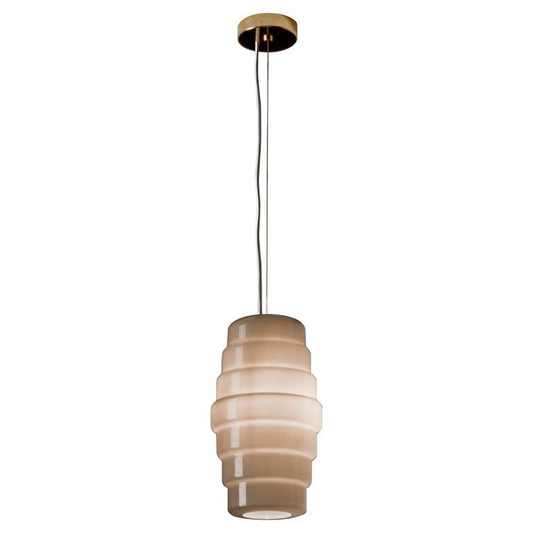 Venini Zoe Large Pendant Light in Gray by Doriana and Massimiliano Fuksas For Sale