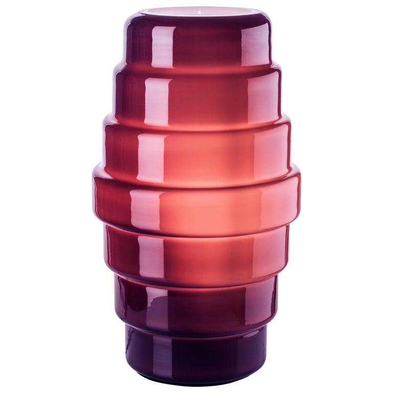 Venini Zoe Large Table Lamp in Violet by Doriana & Massimiliano Fuksas For Sale