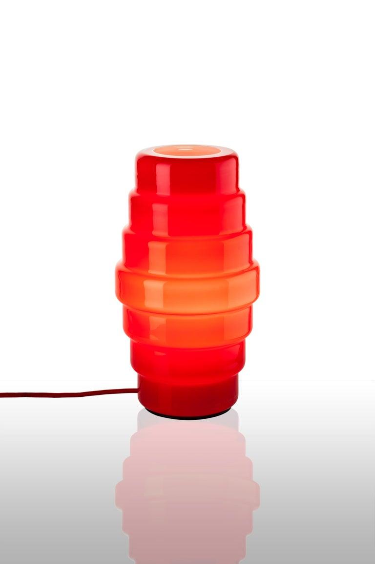 Modern Venini Zoe Large Tavolo Table Light in Red by Doriana and Massimiliano Fuksas For Sale