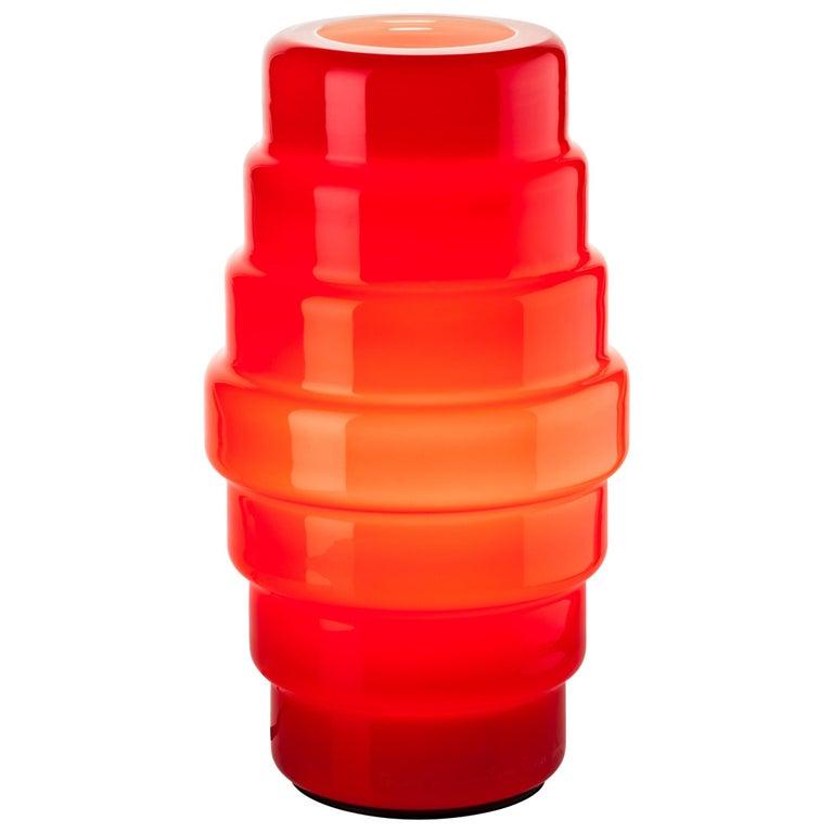 Venini Zoe Small Table Lamp in Red by Doriana & Massimiliano Fuksas For Sale