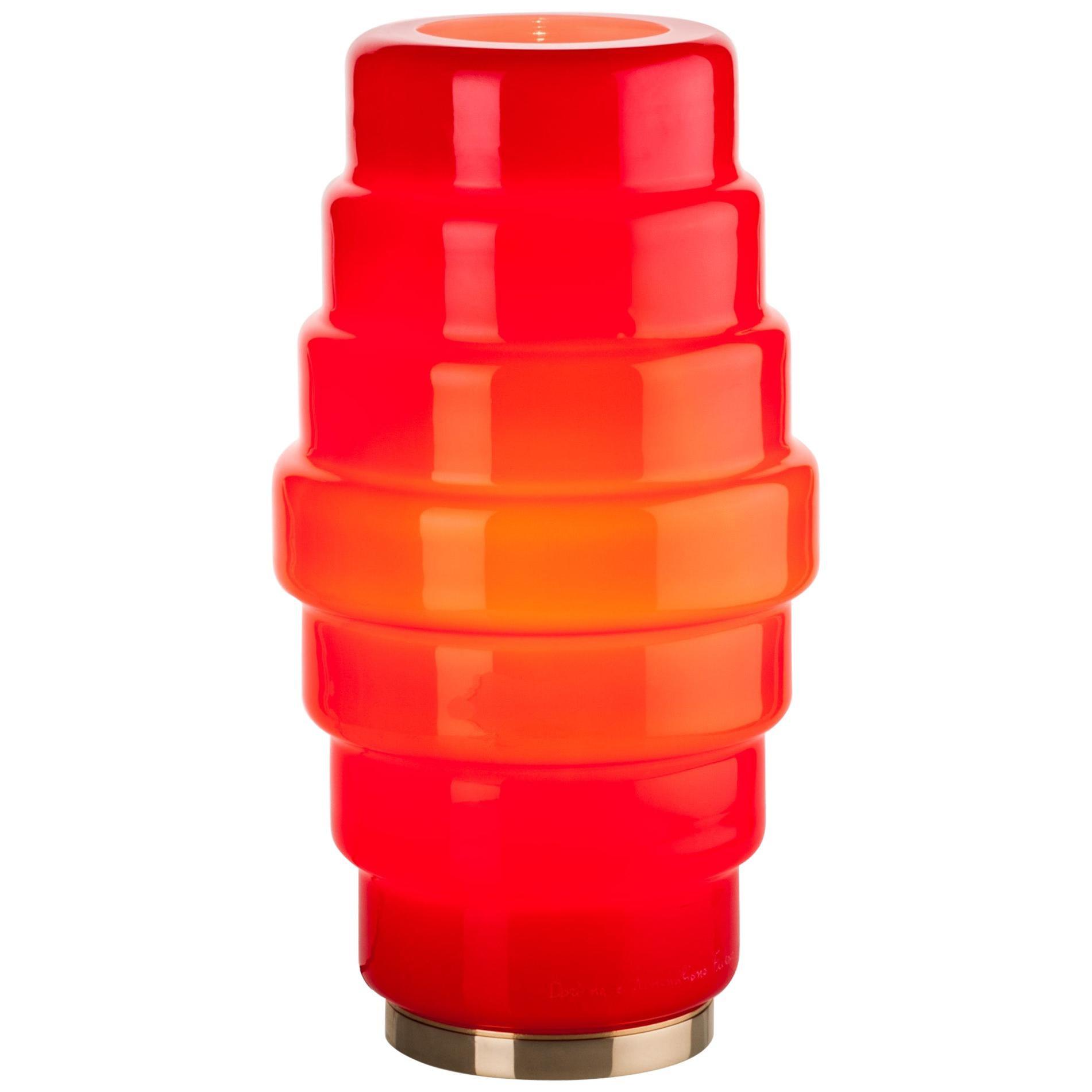 Venini Zoe Small Table Light in Red by Doriana and Massimiliano Fuksas