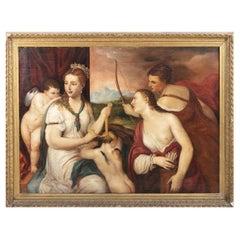 """""""Venus Bandaging Love"""" Copy of Tiziano, Italian Sc. 18th Ce. Christie's Label"""