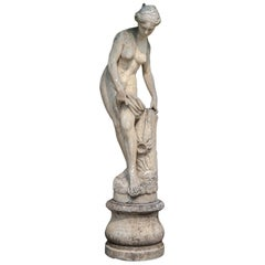 Venus Italian Carved Large Stone Garden Sculpture