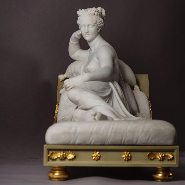Neoclassical Venus Victrix, Marble Sculpture after Antonio Canova, circa 1890 For Sale
