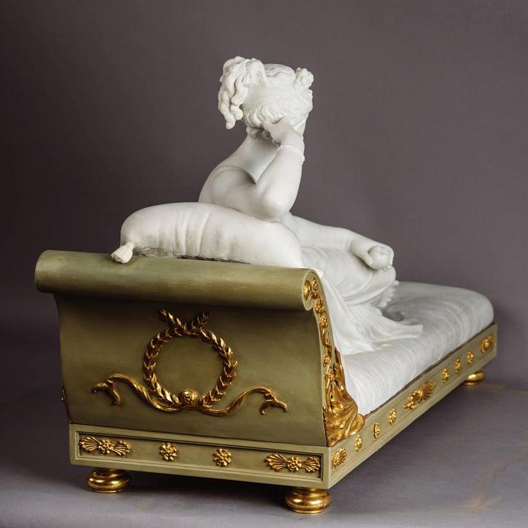 Italian Venus Victrix, Marble Sculpture after Antonio Canova, circa 1890 For Sale