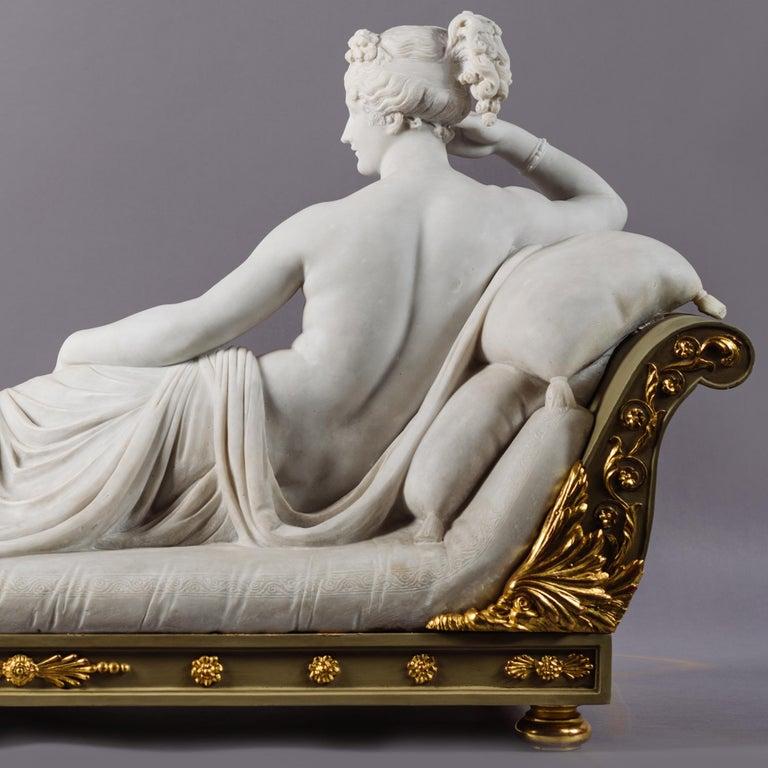 Carved Venus Victrix, Marble Sculpture after Antonio Canova, circa 1890 For Sale