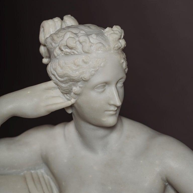 19th Century Venus Victrix, Marble Sculpture after Antonio Canova, circa 1890 For Sale