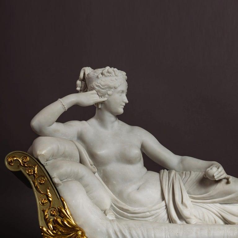 Carrara Marble Venus Victrix, Marble Sculpture after Antonio Canova, circa 1890 For Sale