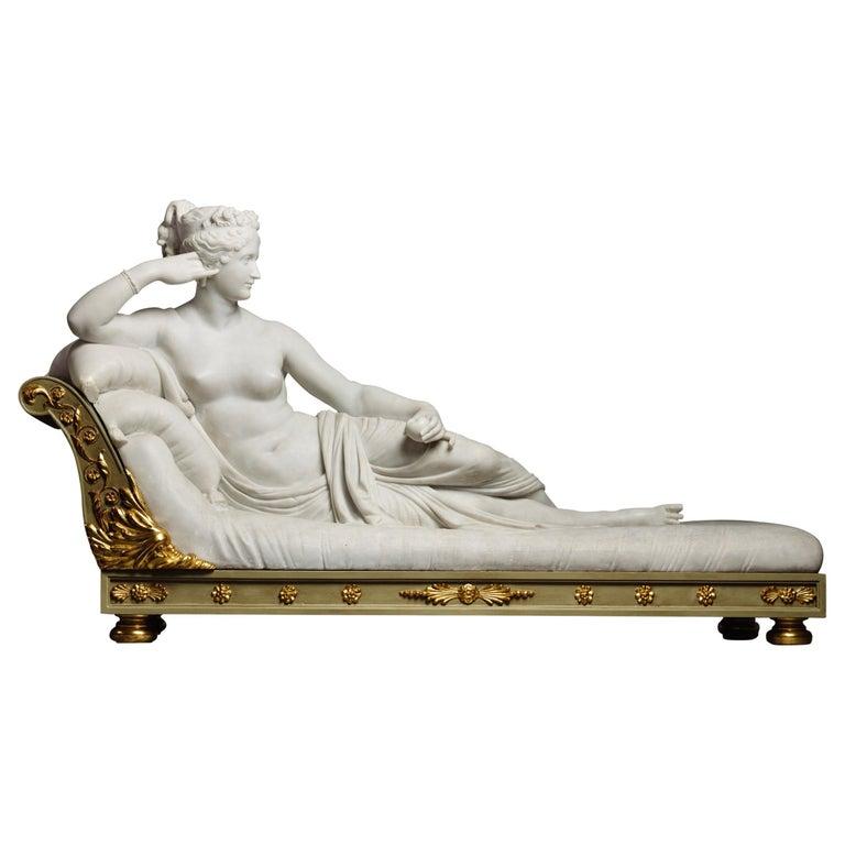 Venus Victrix, Marble Sculpture after Antonio Canova, circa 1890 For Sale