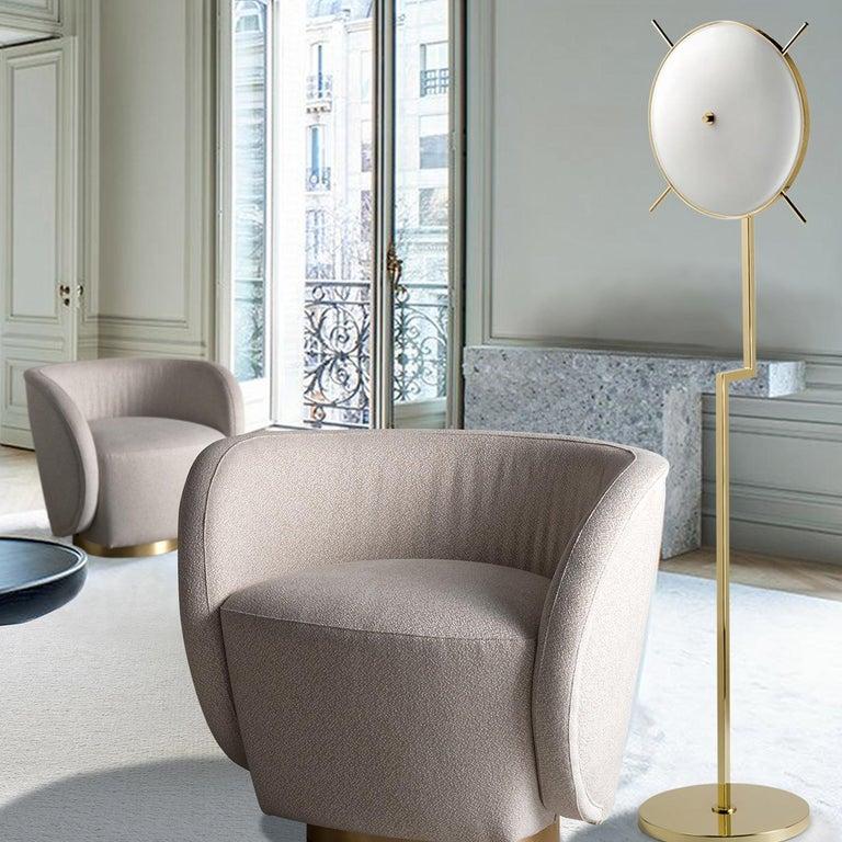 Art Deco Venusia 2-Light Floor Lamp For Sale
