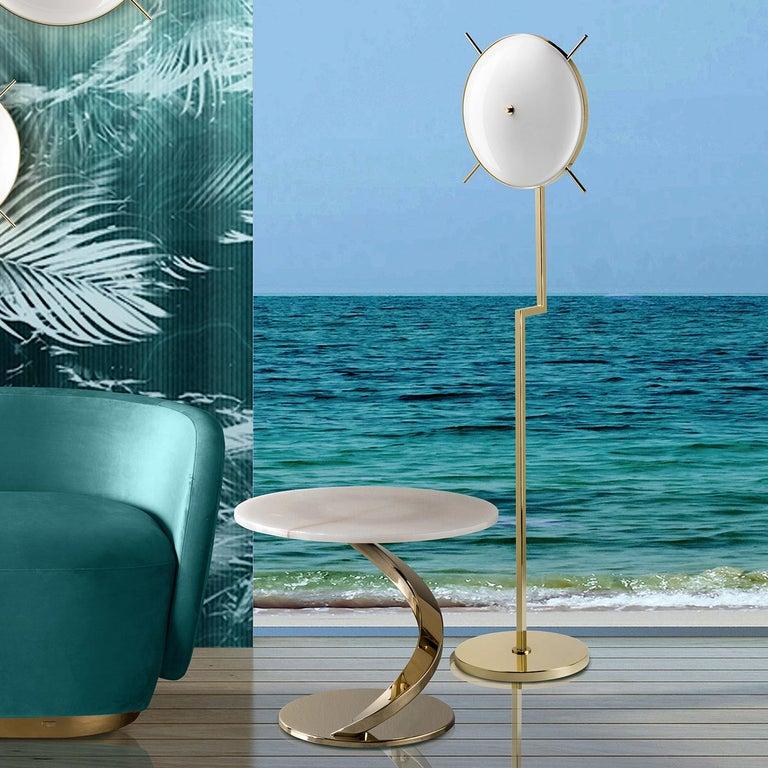 Italian Venusia 2-Light Floor Lamp For Sale