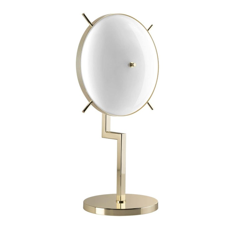 Striking a perfect balance between traditional craftsmanship, noble materials, and modern design, this table lamp is a superb object of functional decor. It is part of the Home Couture collection and inspired by the glamour and luxury of Art Deco