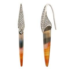 Venyx 18 Karat Diamond Sunset Chalcedonies Pyr Earrings