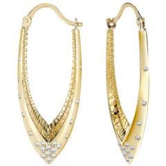 Venyx 18 Karat Gold and Diamond Parrot Star Fish Earrings