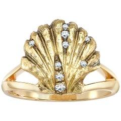 Venyx 18 Karat Yellow Gold Diamond Ladies V Cocktail Ring