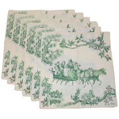 "Vera ""Holiday Celebration"" 'Set of 6' Cotton Blend Table Cloths"