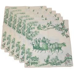 "Vera ""Holiday Celebration"" 'Set of 6' Cotton Blend Table Cloths"