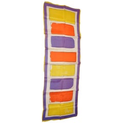 "Vera ""Rainbow Abstract"" Silk Scarf"