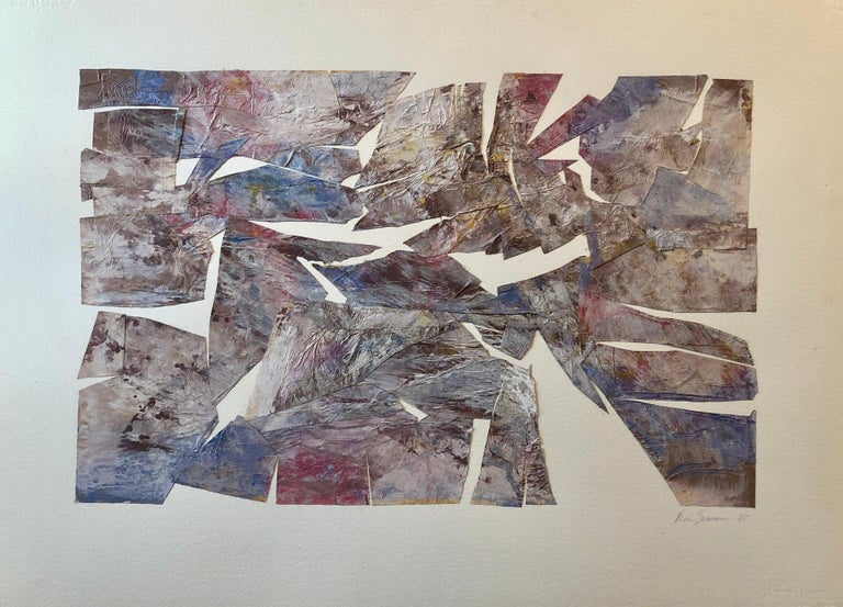 MIxed Media Collage Assemblage Abstract Painting Pioneering Female Aviator  For Sale 1