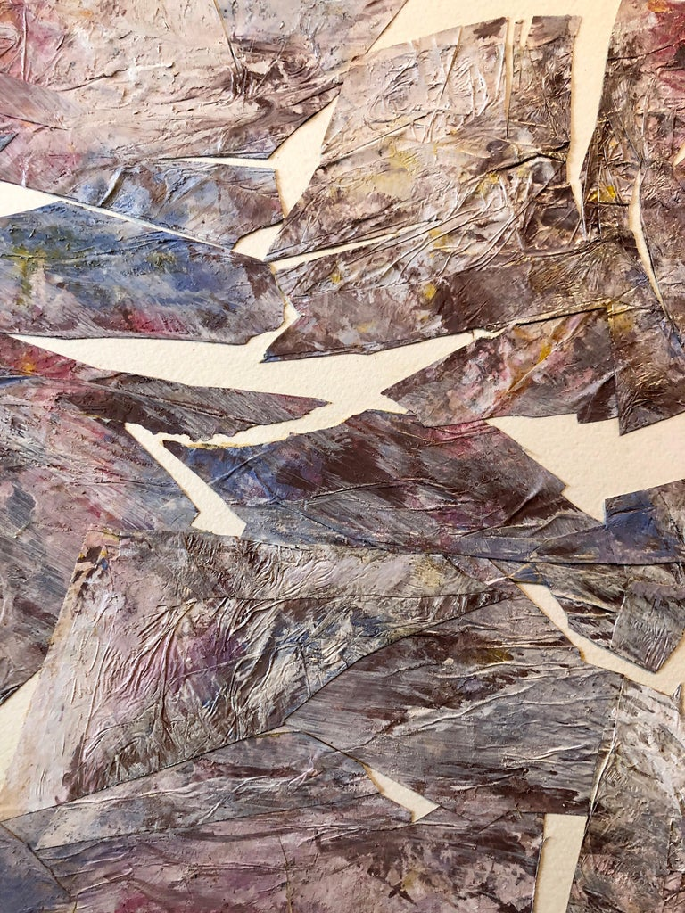MIxed Media Collage Assemblage Abstract Painting Pioneering Female Aviator  For Sale 4