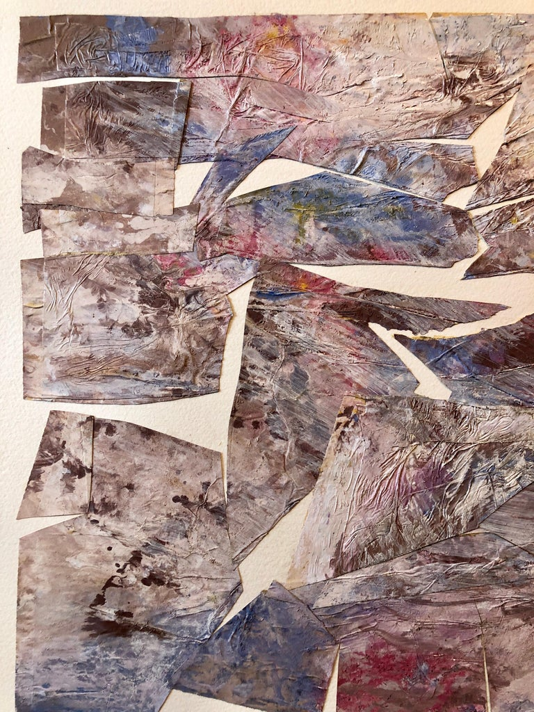 MIxed Media Collage Assemblage Abstract Painting Pioneering Female Aviator  For Sale 5