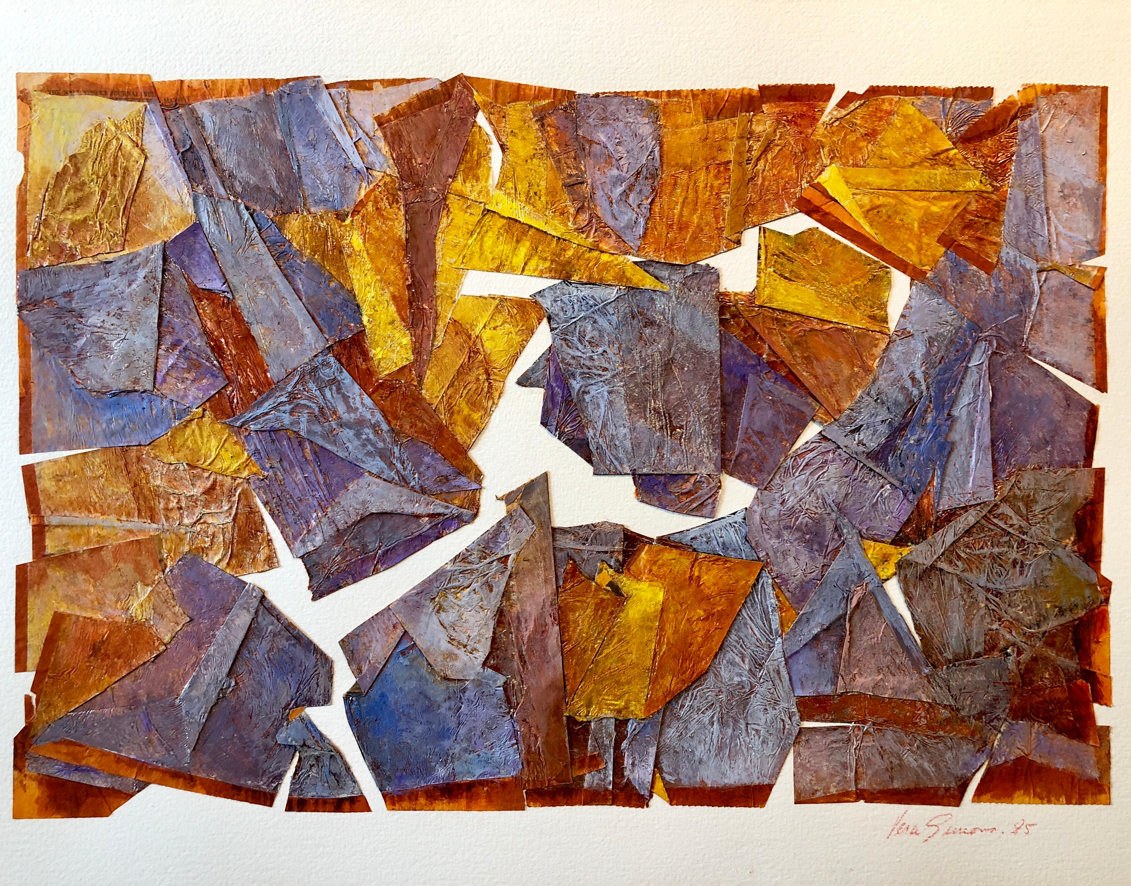 MIxed Media Collage Assemblage Abstract Painting Pioneering Female Aviator