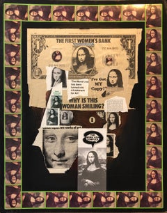 1970s Mona Lisa Photo Collage Photograph Pioneer Female Aviator Feminist Pop Art