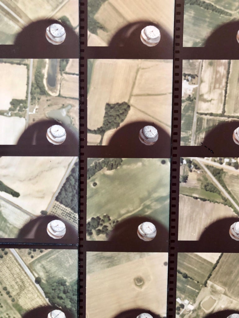 1979 Square Time Indiana, Photo Mosaic Collage Aerial Photograph, Female Aviator For Sale 1