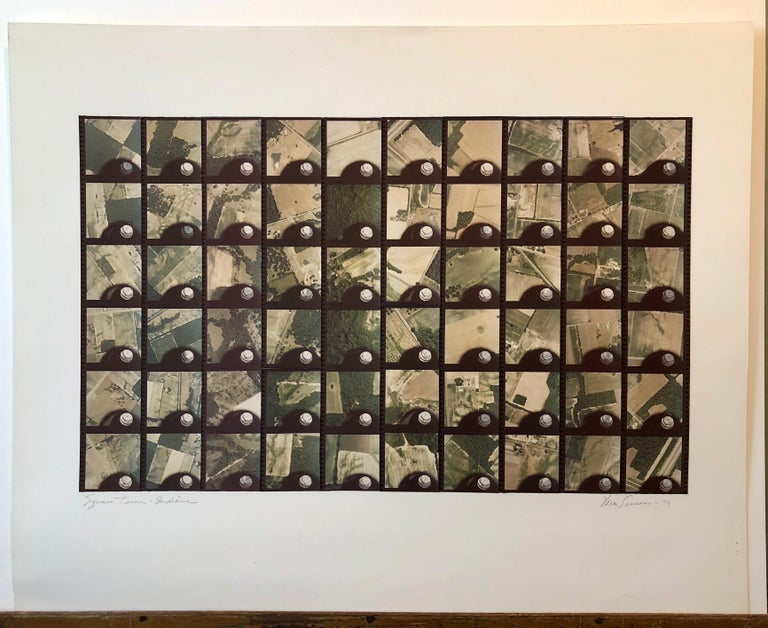 1979 Square Time Indiana, Photo Mosaic Collage Aerial Photograph, Female Aviator For Sale 3