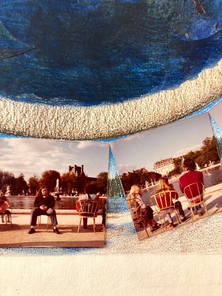 Afternoon in Tuileries Paris Boats Painting Photo Collage Photograph Assemblage  For Sale 3
