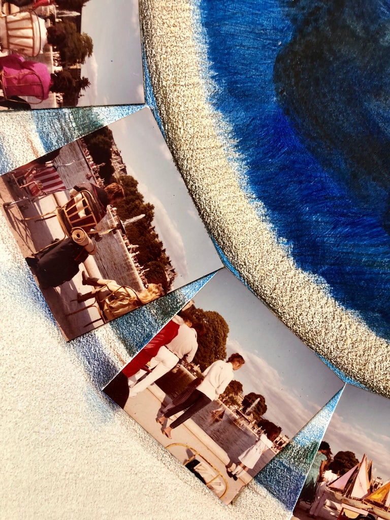Afternoon in Tuileries Paris Boats Painting Photo Collage Photograph Assemblage  For Sale 4
