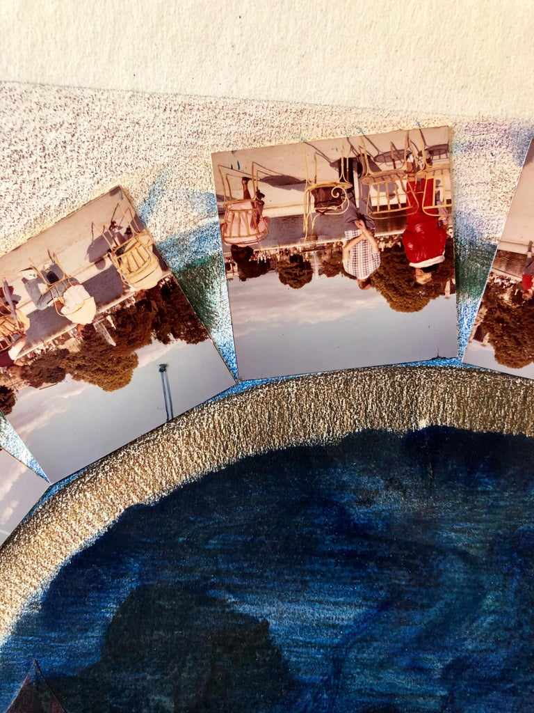 Afternoon in Tuileries Paris Boats Painting Photo Collage Photograph Assemblage  For Sale 5