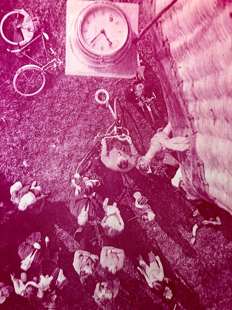 Lift Off, Amsterdam, Photo Mosaic Collage Aerial Photograph, Female Aviator For Sale 1