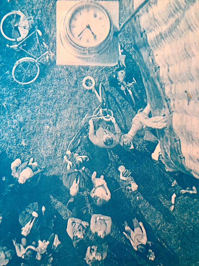 Lift Off, Amsterdam, Photo Mosaic Collage Aerial Photograph, Female Aviator For Sale 2
